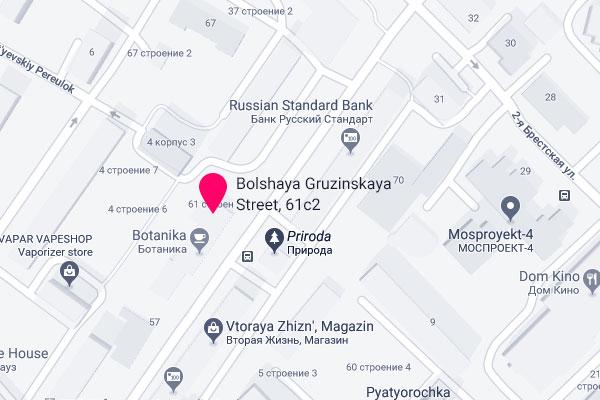 Office address on map