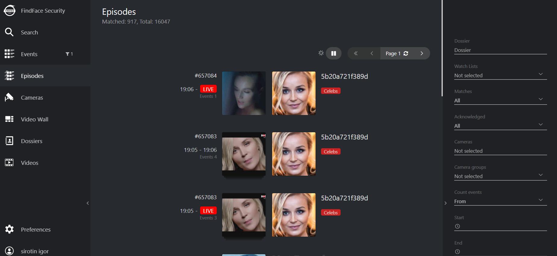 esp face recognition combine episodes