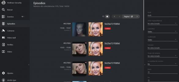 El algoritmo rastrea a los eventos con una persona en un corto intervalo de tiempo predeterminado y los une en un episodio.